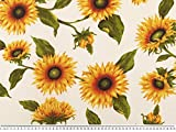 Zanderino ab 1m: Dekostoff, große Sonnenblumen,