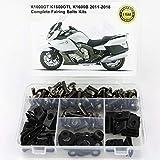 LIWIN-Motorradzubehör For BMW K1600GT K1600GTL K1600B 2011-2018 Motorrad kompletter voller Verkleidung Schrauben Kit Muttern Seitenverkleidung Schrauben Stahl (Color : Titanium)