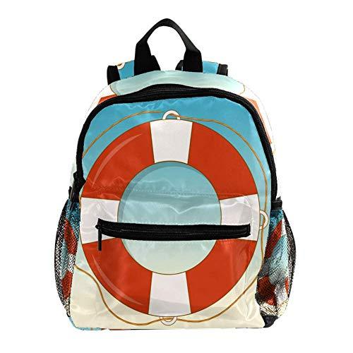 Schwimmring Rettungsring Rucksack 3-8 Jahre Kids Lightweight Toddler Daypack für Vorschule Kindergarten und Reise Baby Wickeltasche 25.4x10x30CM