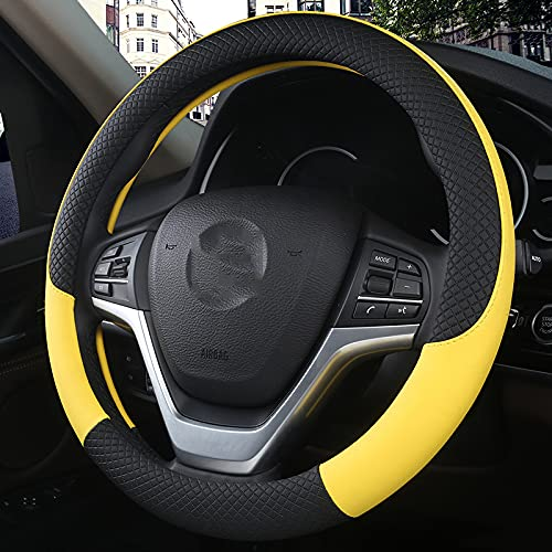 Lyqfff para Audi A4 b8 b7 b6 b5 b9, Cubierta del Volante...