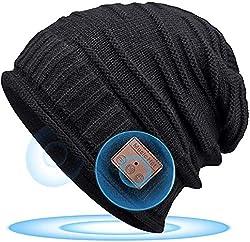Cadeau Mode pour Hommes & Femmes : Avec son design en tricot côtelé simple et lâche, le bonnet noir HANPURE est l'un des éléments de mode durables, non seulement il garde la tête au chaud mais il est aussi bien décoré avec diverses tenues. Le design ...