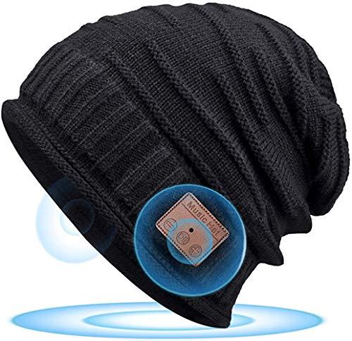 HANPURE Bluetooth Mütze Geschenke für Männer & Frauen - Wintermütze Herren mit Bluetooth 5.0 Kopfhörern, Unisex Musik Mütze Beanie Geschenke für Läufer, Skifahren on Weihnachten