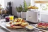 Philips Daily Collection HD2582/00 830-Watt 2-Slice Pop-up Toaster (White) & HD 2393 820-Watt Sandwich Maker (Black) Combo