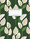 Composition Notebook: Girls' notebooks. 8.5 x 11, College Ruled, 100 pages Notebooks with sophisticated and precious cover the main theme is the flower patern: To Do Lists for You to Organize