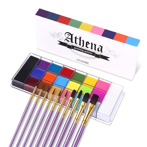 UCANBE Juego de paleta de maquillaje, 20 colores de pintura corporal facial...