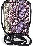styleBREAKER Bolso de Bandolera para el móvil de Mujer en óptica de Piel de Serpiente, Bolso de Hombro, Bolso de Mano para el móvil, minibolso 02012306, Color:Lila-Púrpura
