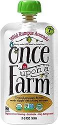 Once Upon a Farm Wild Rumpus Avocado (Stage 2 Organic Baby Food), 3.2 oz