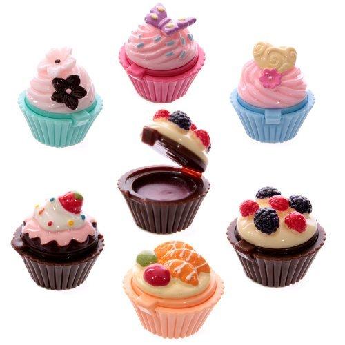 6 PEZZI Lipgloss lucidalabbra a forma di dolcetto cupcake torta colorata