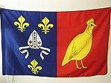 AZ FLAG Flagge DÉPARTEMENT CHARENTE Maritime 90x60cm - CHARENTE Maritime Fahne 60 x 90 cm Scheide für Mast - flaggen Top Qualität