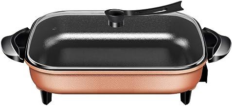 Sac de pique-nique Sooiy électrique Frying pan/rectangulaire en or électrique Skillet/Multi-Fonction 6L chaud électrique P...