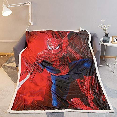 3D Cristal Velours Jeté en Molleton Blanket- 150 X 200 Cm Spiderman Magique Couvre-lit Flanelle 100% Lancers Literie Polycoton Tissu Nap Couverture A-130 * 150 cm