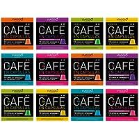 Viaggio Espresso Cápsulas de café compatibles con máquinas Nespresso Selección clásica (120 Cápsulas)