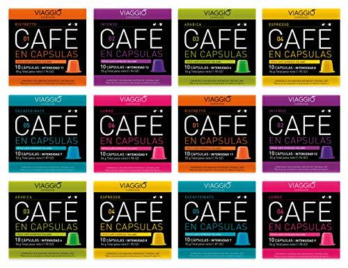 Viaggio Espresso Kaffeekapseln kompatibel mit Nespresso-Maschinen Klassische Auswahl (120 Kapseln)