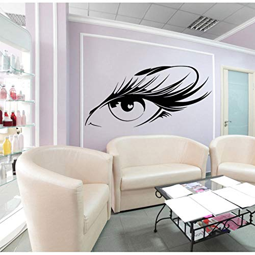 Pegatina De Pared Beautiful Eyelash Eye Wall Sticker Girl Makeup Beauty Salon Vinyl Stickers Girls Get It Living Room Decoración De La Pared Patrón