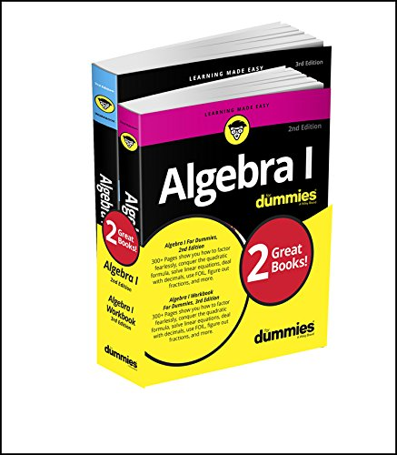 Compare Textbook Prices for Algebra I For Dummies Book + Workbook Bundle 3 Edition ISBN 9781119387084 by Sterling, Mary Jane