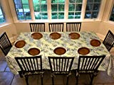 Covers For The Home Deluxe Stitched Edged Flannel Backed Vinyl Drop Tablecloth - Fern Pattern - 60' x 120' - Oblong