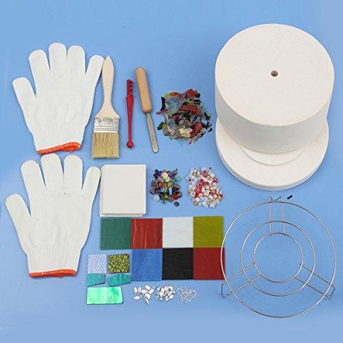 ExcLent 15 Piezas De Microondas Grande Kit De Horno Kit De Fusión De Vidrio Arte De La Joyería De Bricolaje