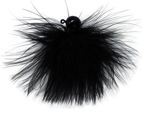 Eagle Claw Marabou Jig, Black, 3/8