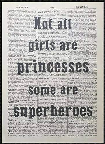 Parksmoonprints - Stampa artistica da parete, motivo: ragazza supereroe
