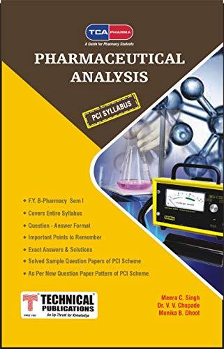 Pharmaceutical Analysis for B. PHARMACY PCI (I - BP102T) TCA PHARMA (English Edition)