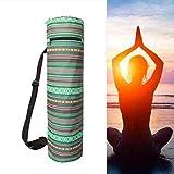 shuxuanltd Bolsa Esterilla Yoga Funda Esterilla Yoga Bolsas de Transporte de Esterilla de Yoga Estera de Yoga con Bolsa de Transporte Ejercicio Mat Bolsa Green,-
