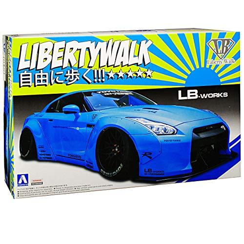 Aoshima Nissan Skyline R35 GT-R LB-Works Liberty Walk Blau 54024 Nr 09 Kit Bausatz 1/24 Modell Auto
