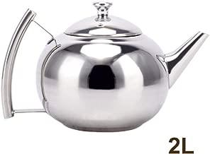 jincome Tetera, Elegante Tetera térmica, Acero Inoxidable Pulido pequeño Pico con colador Bien Hecho, Home Hotel de Gran Capacidad Olla Exquisita DE 2,0 litros para café o té Goteo