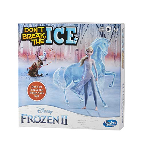 Hasbro Gaming Don't Break The Ice Disney Frozen 2 Edition Game for Kids Ages 3 and Up, Featuring Elsa and The Water Nokk (Amazon Exclusive)