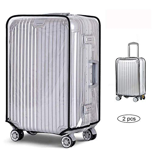 2 pcs Clear PVC Suitcase Cover Clear Waterproof Scratchproof...