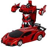 変形玩具車 リモコンカー ロボット ラジコン 遠隔操作 変形することができる 子供の好きなギフト [並行輸入品]