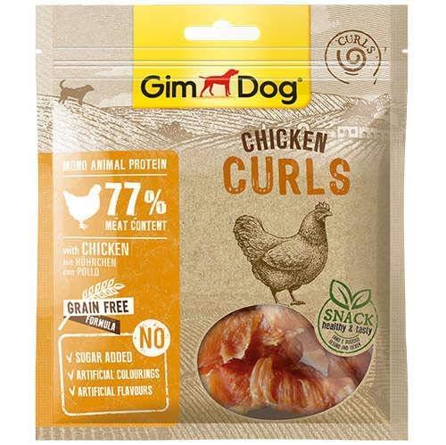 GimDog Curls - Getrockneter Fleischsnack mit getreidefreier Formel und Mono-Protein für Hunde - 6 Packungen (6 x 55 g)