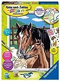 Ravensburger Malen nach Zahlen 28326 - Pferd mit Fohlen - Für Kinder ab 7 Jahren -