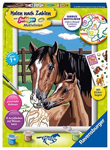 Ravensburger Malen nach Zahlen 28326 - Pferd mit Fohlen - Für Kinder ab 7 Jahren