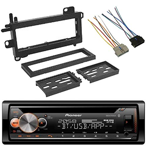 EnrockAudio Pioneer DEH-S5100BT Single-DIN CD MIXTRAX Bluetooth Car Audio Receiver, Scosche CR01B Power Connector Wire Harness, w/ CJ1279B Dash Kit (Fits 1984-Up Chrysler)
