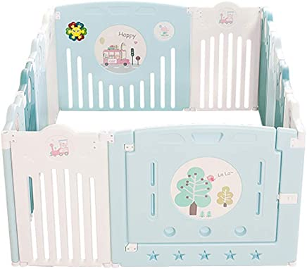 WANNA ME Baby Playpen Baby Play Fence Baby Child Crawling mat Toddler Fence Safety Fence Home Indoor Strong and Durable Made from Non-to