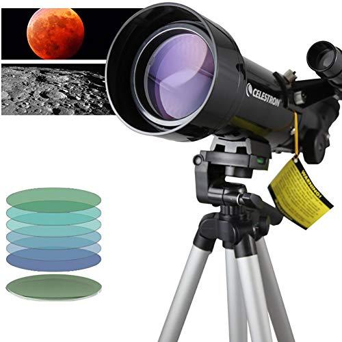 Rabbfay High-definition Refracting Telescoop met groot veld, 70 mm grote diameter, kan worden verbonden met mobiele telefoons om foto's te maken, geschikt voor beginnende kinderen