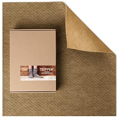 TEPPIX Duo - Antirutschmatte für Textile Böden   Teppichunterlage ohne Weichmacher   Rutschmatte Teppich auf Teppich   Teppichvlies 60x120 cm