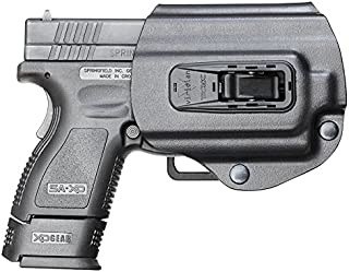 Viridian Weapon Technologies (950-0017) TacLoc Holster Built for Springfield XD/XDm 9/40/45 with Viridian X5L Series, Black