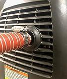 GenExhaust Compatible with Honda EU2200i/EU2000i/EU1000i Generator 1' Silicone tubing Exhaust Extension 1-1/2 Foot Length.