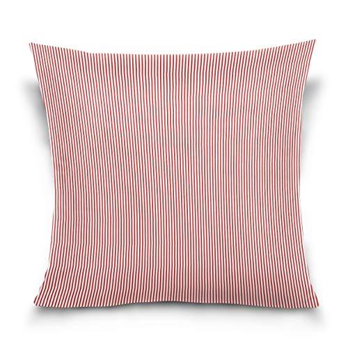 Funda de cojín LORONA a rayas rosadas para el hogar, para sofá, sofá, funda de cojín, 16 x 16 pulgadas, 40,6 x 40,6 cm, Multicolor, 16 x 16 Inches 40.6 x 40.6 cm