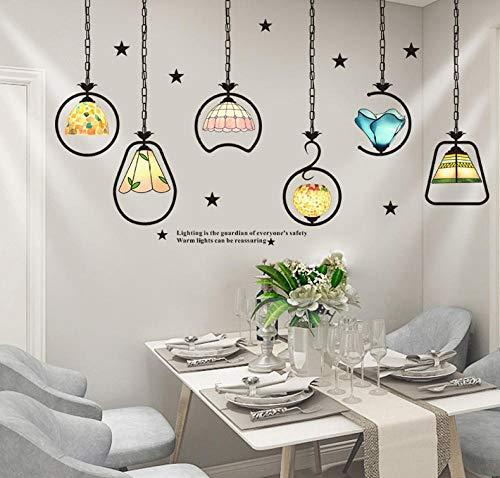 Etiquetadelapared,Personalidad Creativa Decorativa Dormitorio Papel Pintado Autoadhesivo Nórdico Viento Alquiler Casa Renovación Pared Pegatinas-Luces Europeas Y Americanas