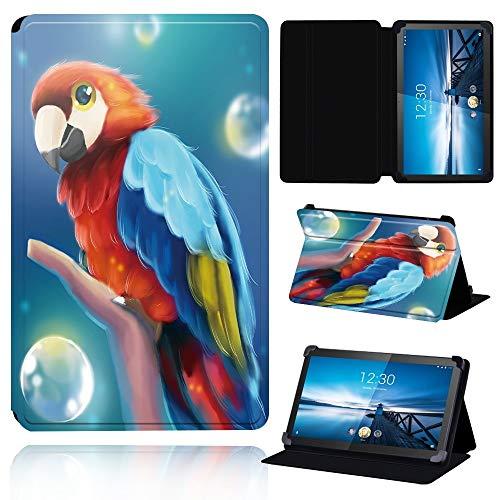 ghn Funda de piel para tablet Lenovo Smart Tab M8 de 8 pulgadas / Tab M10 de 10.1 pulgadas, ajustable, plegable, con soporte, funda protectora para tablet (color: 2.loro, tamaño: Smart Tab M8 8)