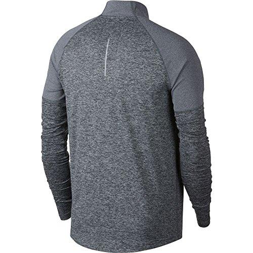 Nike Men's 2.0 Element 1/2 Zip Running Top (Dark Grey/Heather, Small)
