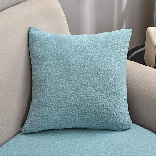 Fundas de cojín de sofá impermeables, fundas de cojín de sofá, fundas de cojín de sofá, elásticas gruesas para cojines individuales (azul claro, funda de almohada con cremallera)
