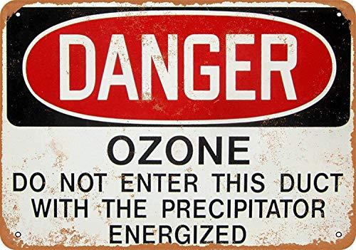 Danger Ozone 20.4 x 30.4 cm de estaño con aspecto vintage, decoración para el hogar, cocina, baño, granja, jardín, garaje, citas inspiradoras para decoración de pared