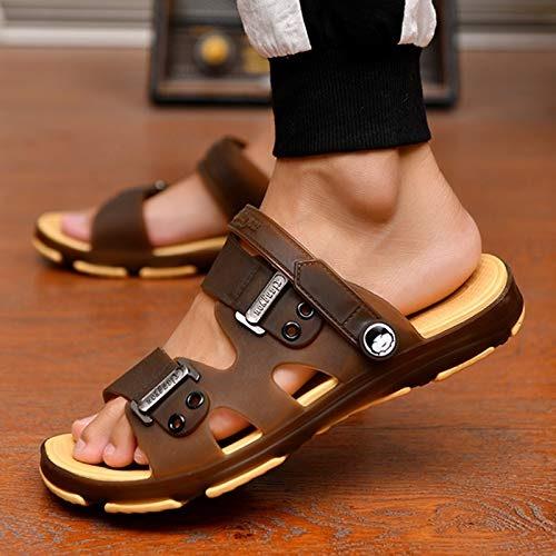 Shukun Sandales pour hommes été Mot Glisser Pantoufles Hommes Sandales Hommes Pantoufles Chaussures de Mode Chaussures de Plage intérieure et extérieure antidérapante