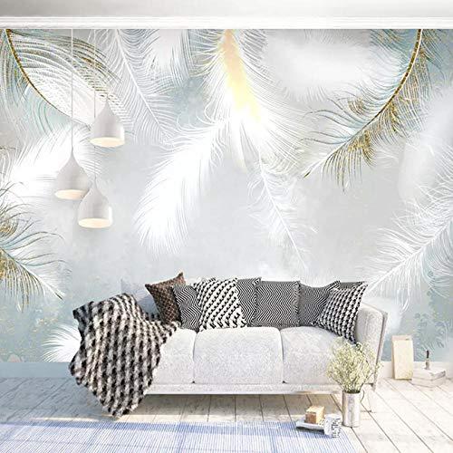 Papel tapiz fotográfico 3D personalizado moderno pintado a mano acuarela pluma mural papeles de pared decoración del hogar...