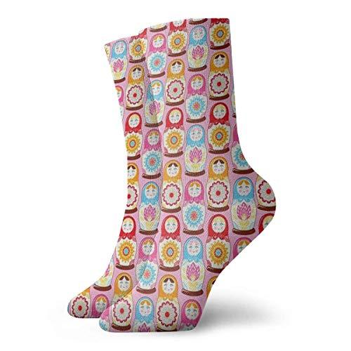 N/A Sport/Sneaker Socken,Business Socken,Anzug-Socken,High Performance Tennissocken,Russische Puppe Feuchtigkeitskontrolle Laufsocken Langlebige Atmungsaktive Trainingssocken