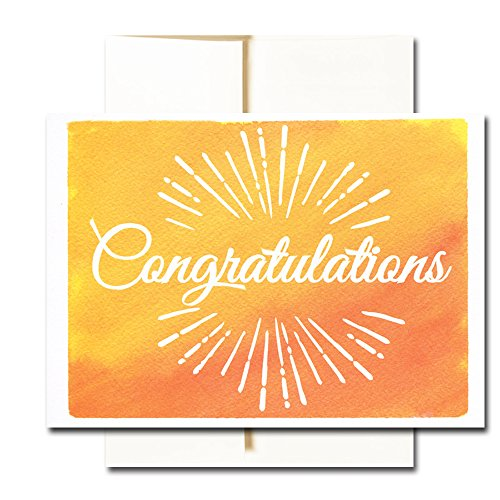 Congratulations Cards: Colorful Assortment – 30 Boxed Blank Note Cards + 32 Envelopes by CroninCards Photo #3