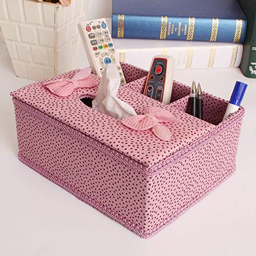 JJSFJH Cubierta de Caja de Tejido Rectangular de Perfume Creativo, toallero de Toalla de Papel de baño Decorativo, Deslizador Inferior (Color : N)